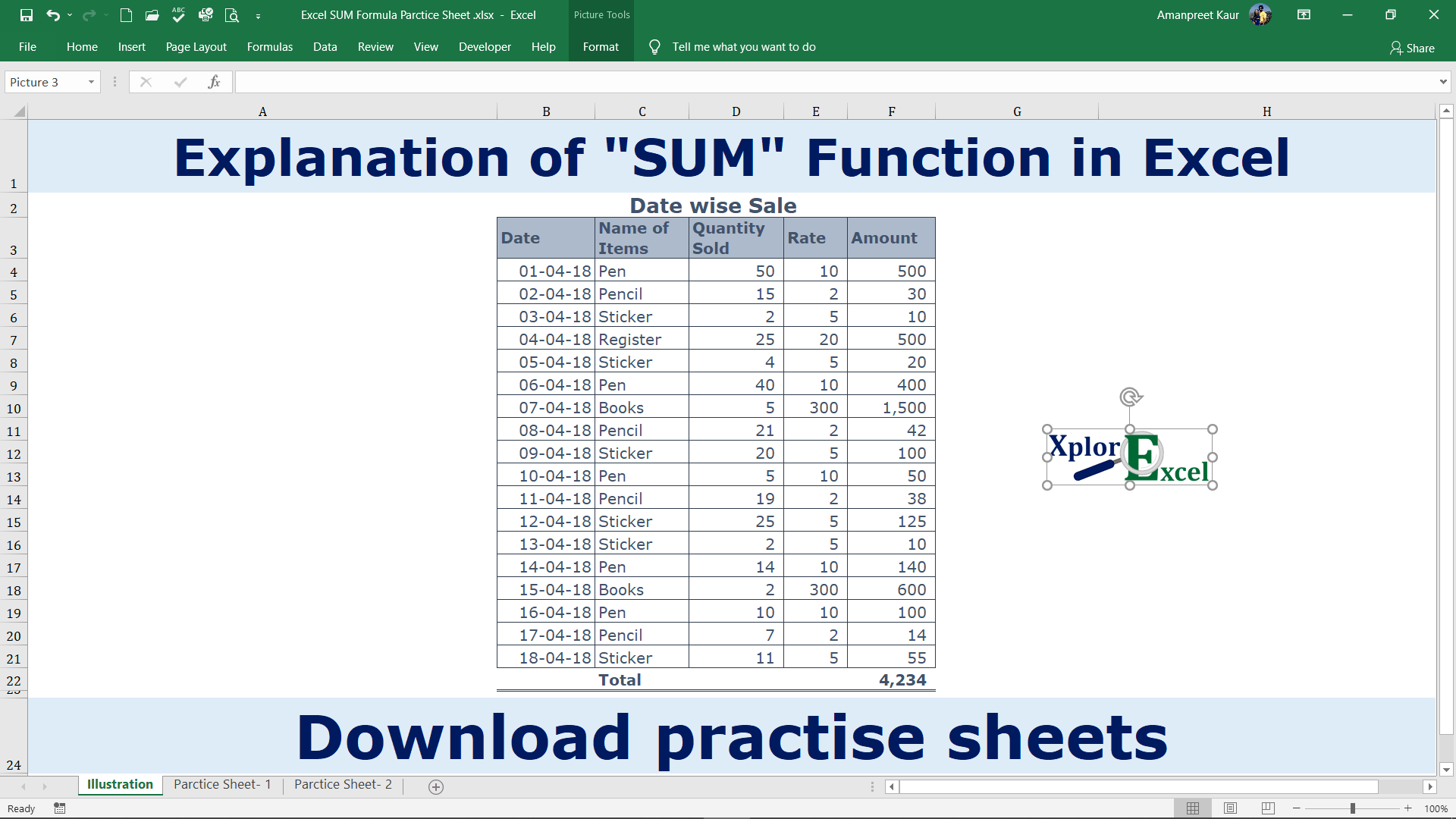 Excel SUM Formula - Feature Image