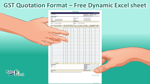 GST Quotation Format – Free Dynamic Excel sheet