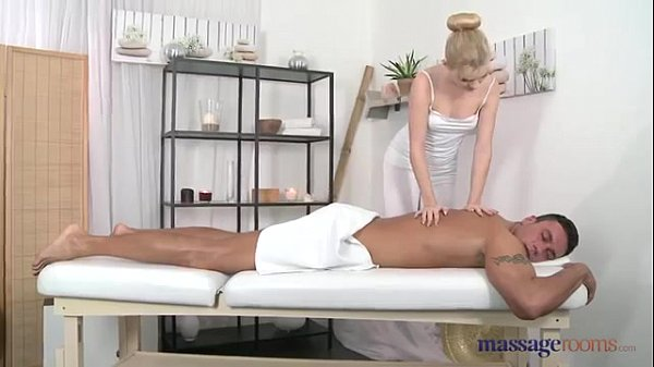 Blonde Masseur Sofia Takes Care of His Cock