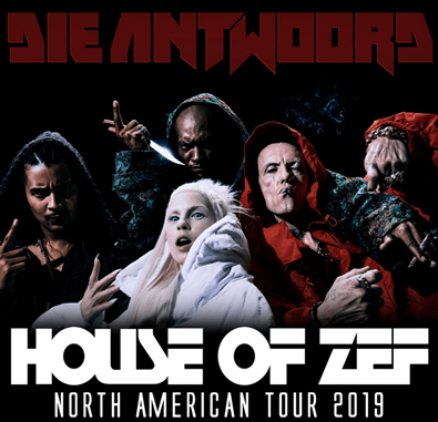 DIE ANTWOORD Announce Fall U.S. 'HOUSE OF ZEF' Tour