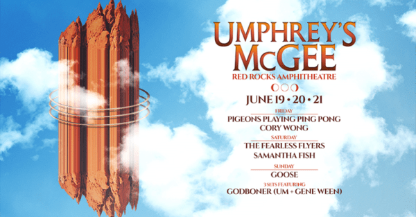 Umphrey's McGee Headlines Red Rocks for the 11th Time June 19-21!