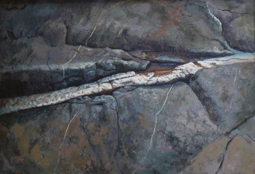 "Frank Bruckmann - Gabbro #16, 30x44"" oil on canvas"