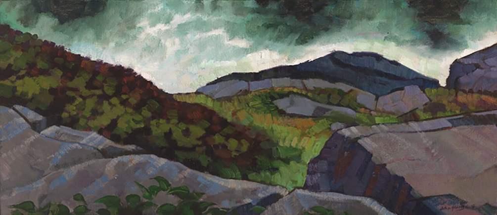 John Harris - Black Head, 2014 Oil on Canvas 13x30