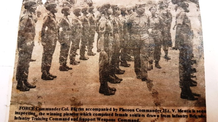 GDF Womens Army Corps, Guyana, Drill Competition 1978, Lt. Verian Mentis, GDF, Female Officers, Course 6 1976