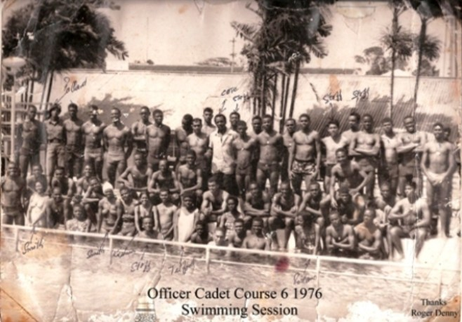 Officer Cadet Course,Swim Luckhoo Pool, Guyanese, army corps, Guyana GDF,Guyana,Cadet Course 6 1976, GDF, Female Officers, Course 6 1976