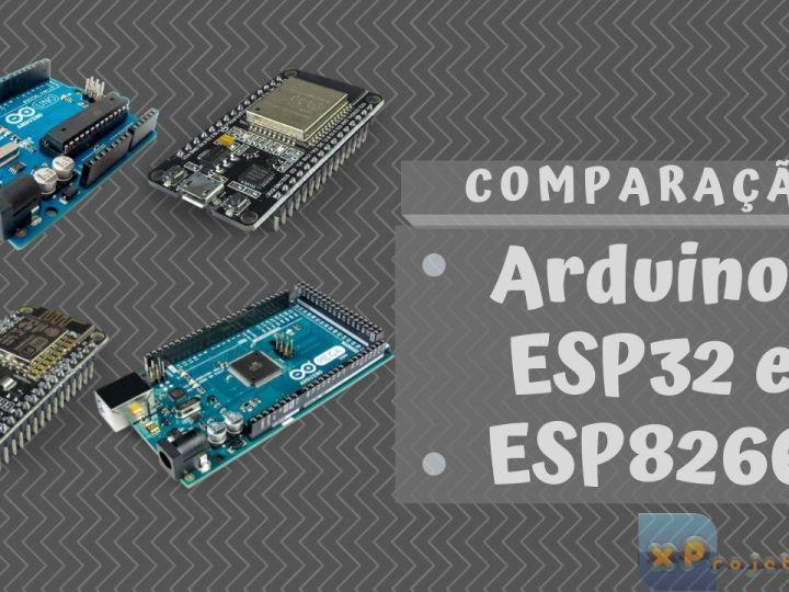 Arduino, ESP32 e ESP8266 – Comparação