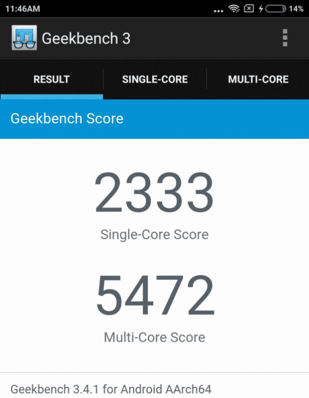 Geekbench 3mi5