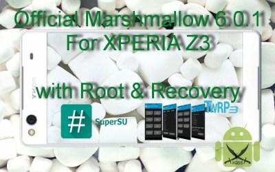 الروم العربي الرسمي مارشميلو 6.0.1 لجهاز XPERIA Z3 طراز D6603 [مع الروت والريكفري]