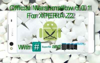 الروم العربي الرسمي مارشميلو 6.0.1 لجهاز XPERIA Z2 طرازي D6503 و D6502 [مع الروت والريكفري]