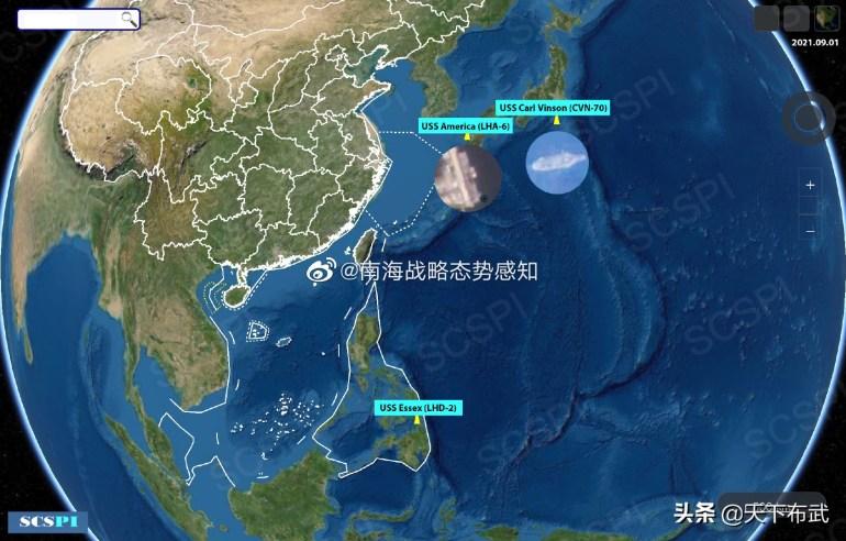 美军航母紧靠琉球,舰载机闯入东海,在边缘试探,解放军严阵以待