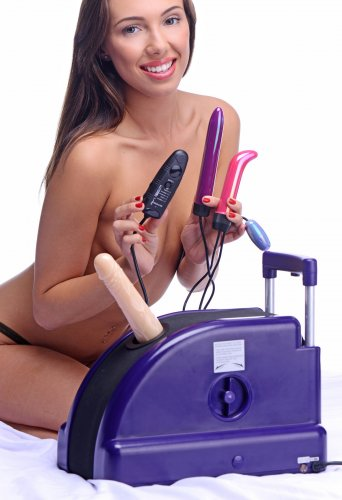 The Sex Station Multi Angle Machine with Vibrating Attachments – AE719