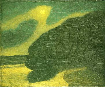 Moonlit Cove, oil by Albert Pinkham Ryder, circa 1900