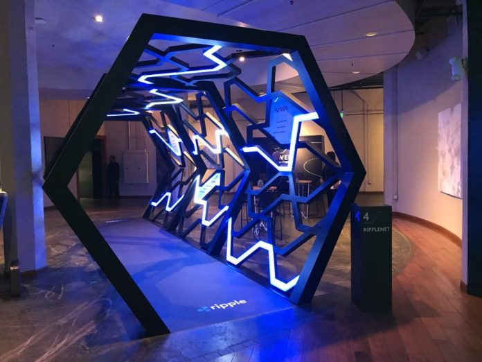 Ripple's Swell conference 2018, xRapid being used decorative walkway.