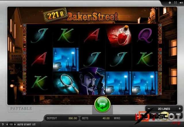 Детективный видео слот Baker Street в казино Вулкан Вегас