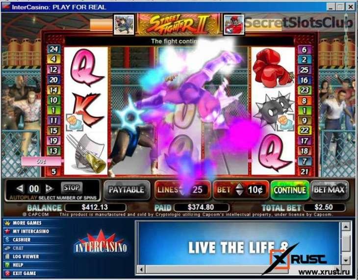 Игровой автомат Street Fighter в казино Вулкан