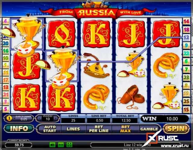 Игровой автомат From Russia with Love в казино Азино