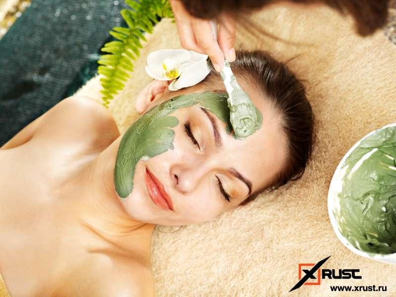 Зеленая маска для лица