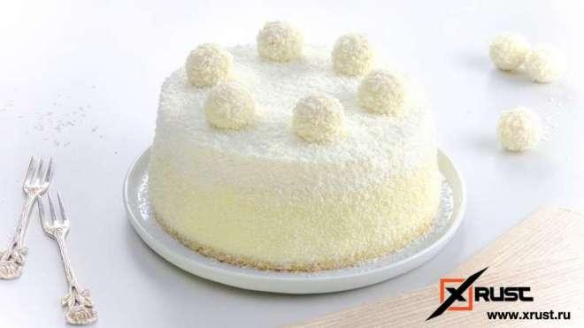 Торт «Рафаэлло» на скорую руку
