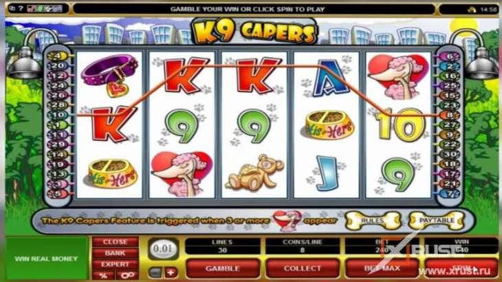 Казино фреш и автомат K9 Capers