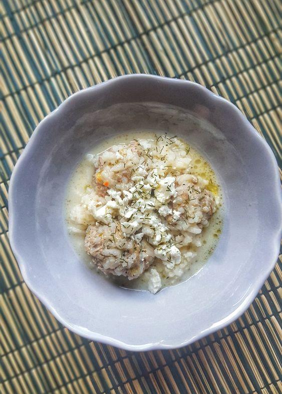 Γιουβαρλάκια Αυγολέμονο με φέτα τριμμένη