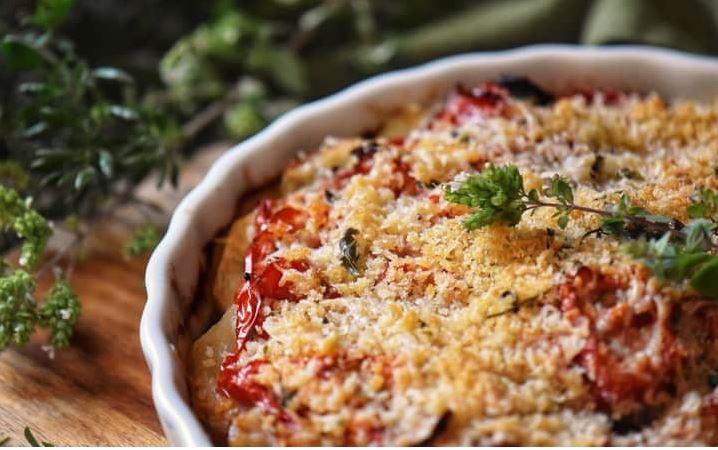 Μεσογειακό Πιάτο λαχανικών στο φούρνο