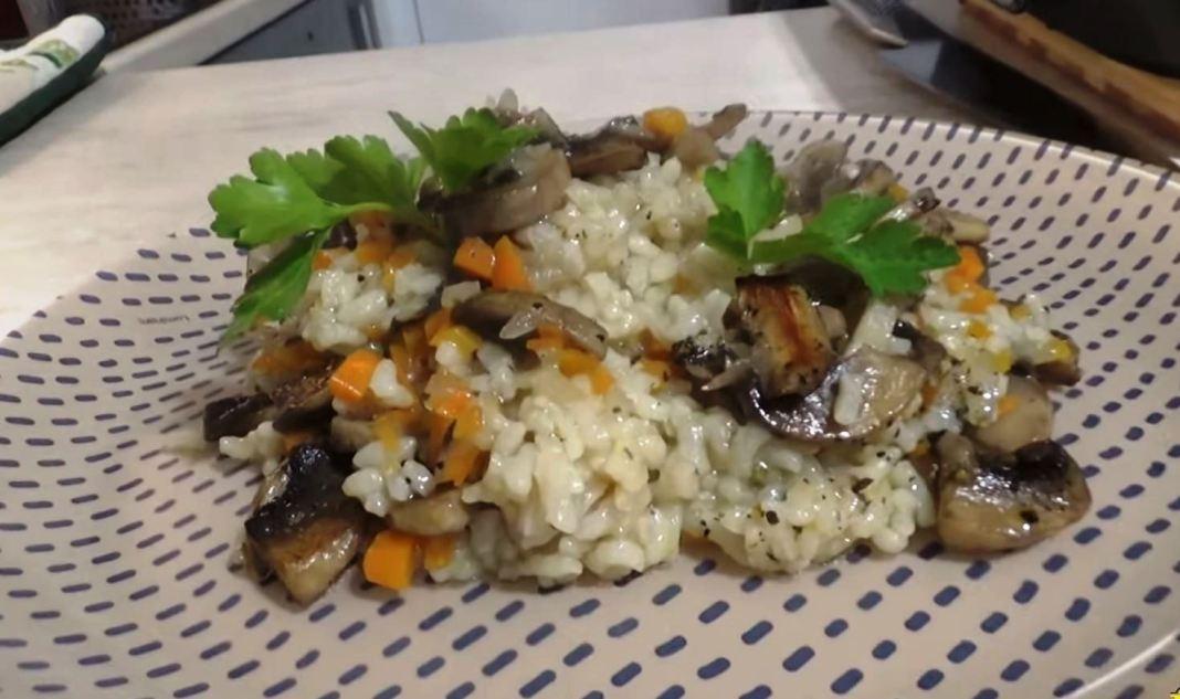 ρυζι με μανιταρια