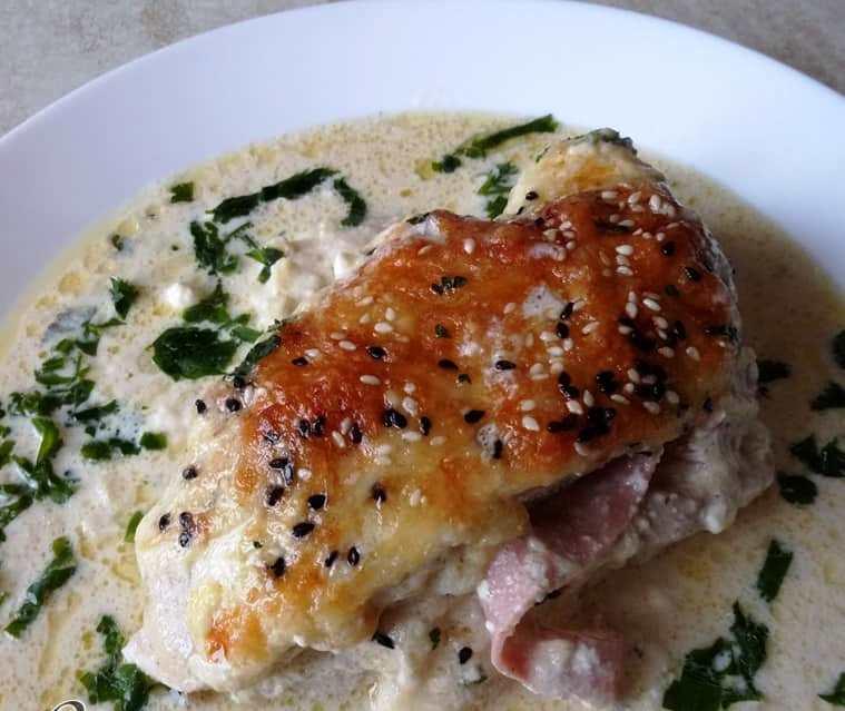 Γεμιστά στήθη κοτόπουλου στο φούρνο