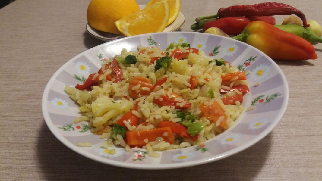 Σπειρωτό Ρύζι με λαχανικά