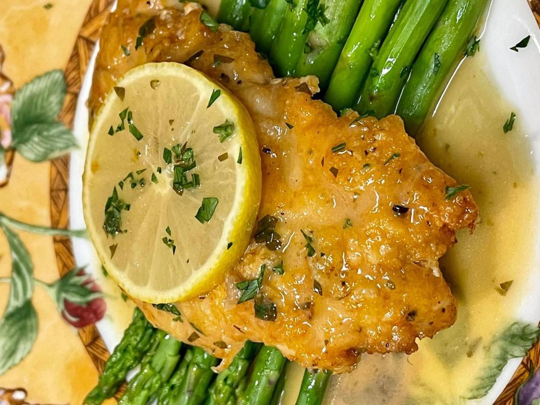 Κοτόπουλο στο τηγάνι Λεμονάτο