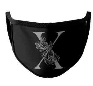 Straight Edge Mask- Floral X