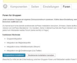 Buddypress Forum installieren
