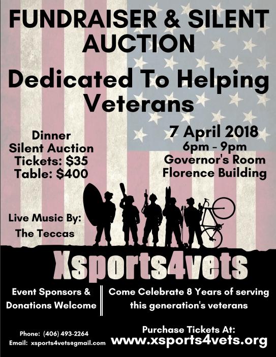 Xsports4vets 2018 veteran fundraiser poster