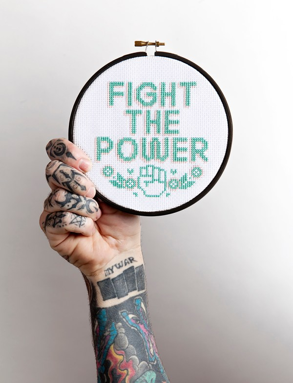 Kate Blandford's Fight The Power design from issue 1
