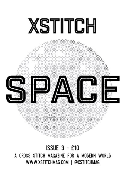Issue 3 Front Cover featuring a Lucie Heaton blackwork design