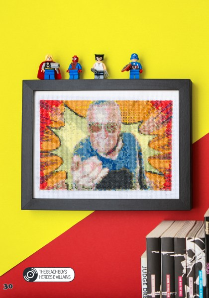 Ellen Schinderman's Stan Lee Cross Stitch Pattern