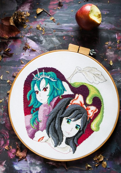 Maria Diaz's Poison Apple Cross Stitch Pattern