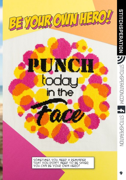 Stitchsperation's Punch Today In The Face Cross Stitch Pattern