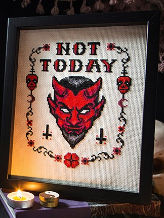 The Witchy Stitcher - Not Today Satan