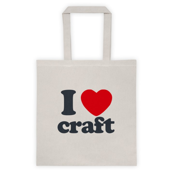 I Heart Craft Tote Bag