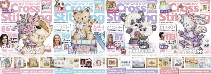 The World of Cross Stitching covers for May to August 2014