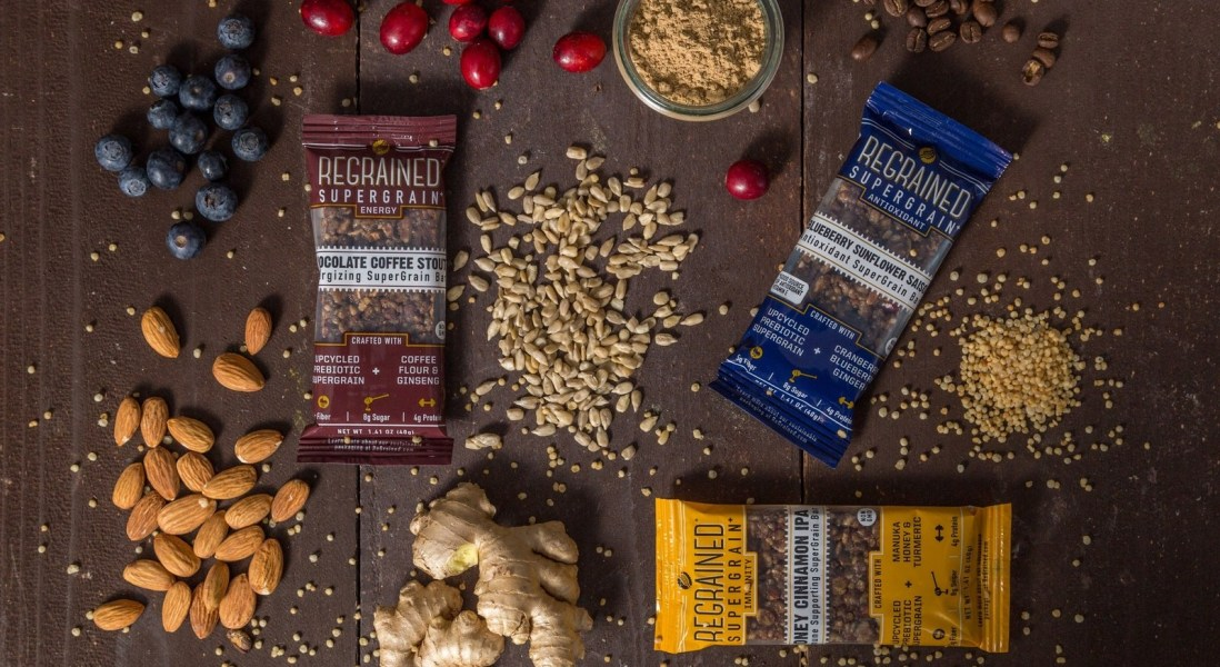 ReGrained Launches Upcycled Nutrition Bar with Biodegradable Packaging