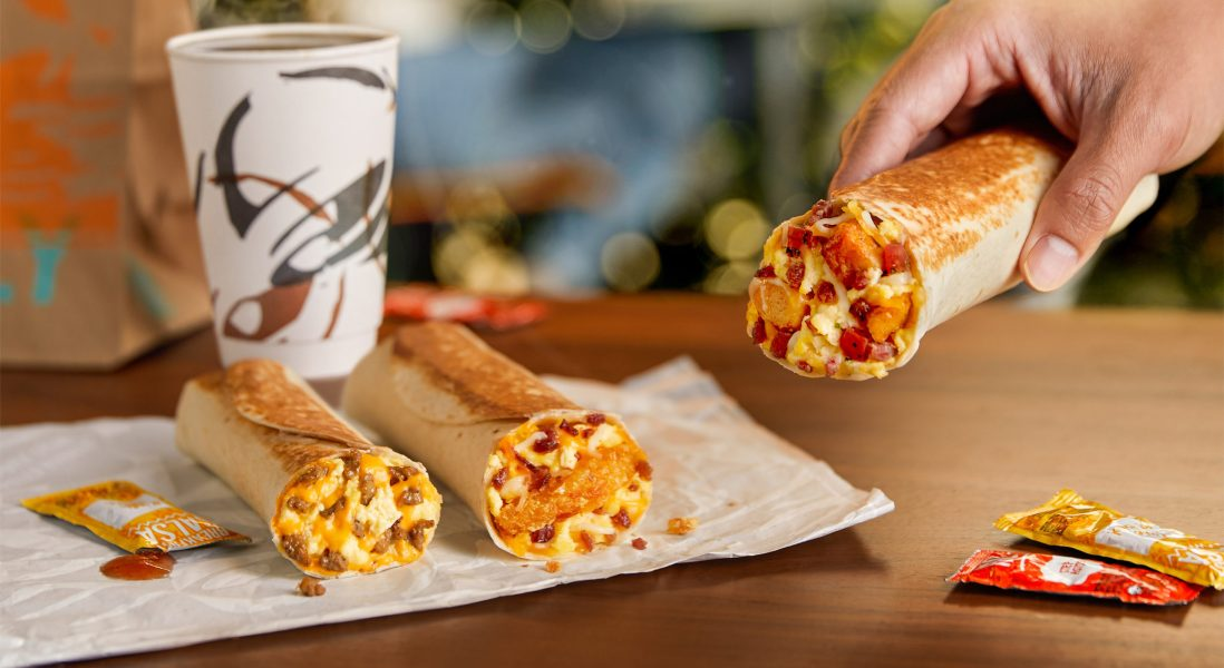 Taco Bell Introduces New Lineup of Breakfast Burritos to Compete with McDonald's and Wendy's