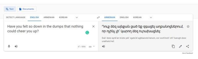 Google Translate_English to Armenian
