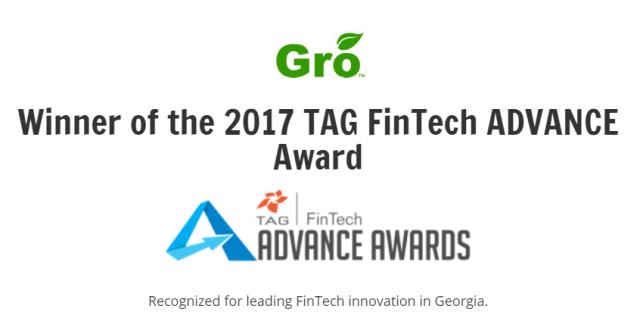 Gro TAG FinTech Advance Award
