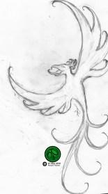 "Phoenix Tattoo Design 2010 Pencil on Paper 4""x5"" #Phoenix #Mythology # FantasyArt #Illustration #PencilDrawing #Sketch."