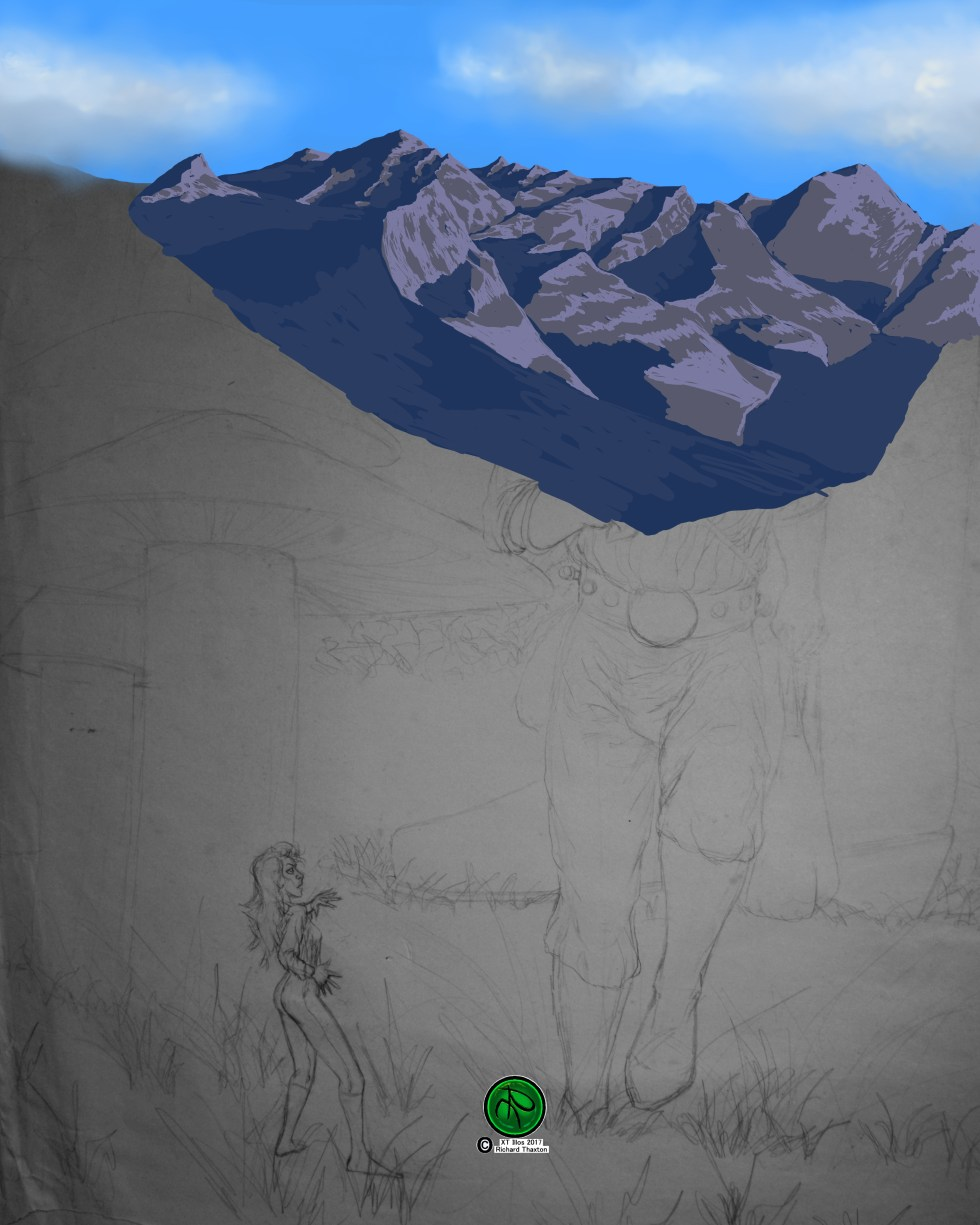 Relative Perspective Color Work WIP Mountain Color Blocking In Rework.jpg