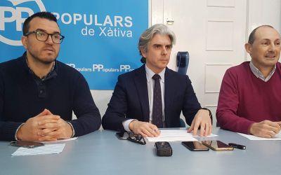 El PP de Xàtiva avalua els retalls en els pressupostos del Botànic en la comarca de la Costera