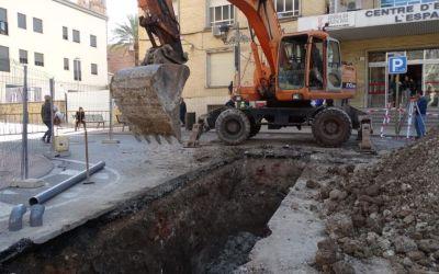 S'inicien les obres d'interconnexió de col·lectors a la plaça Espanyoleto
