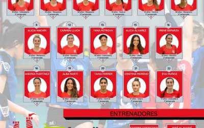 El CV Xàtiva presenta a les integrants del seu equip sénior femení