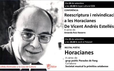 Vicent Andrés Estellés serà protagonista aquesta setmana a Xàtiva amb un recital poètic, una ruta i una conferència